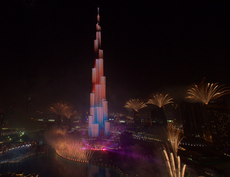 2015 Celebrations in Downtown Dubai
